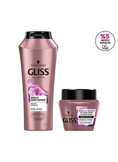 Gliss Serum Deep Repair Onarıcı şampuan 500 Ml Ve Saç Maskesi 300 Ml Renksiz
